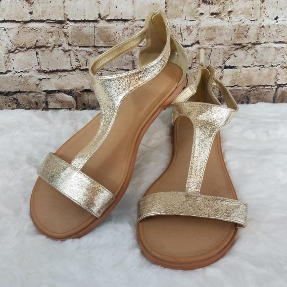 0d983f295ed EUC Torrid Wide Width Gold Gladiator Sandals. M 5be108996a0bb78dbb5c3f70